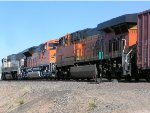 BNSF 7191 is DPU on South bound mixed frieght