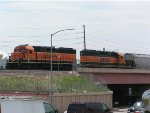 BNSF 1567 on lead of North bound Pikes Peak Local
