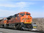 BNSF 9046 on point of South bound coal train on Main 1 of the Joint Line