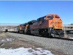 BNSF 8457 South bound coal train on Main 1 of Joint Line