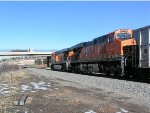 BNSF 6144 and 6070 are DPU's on South bound coal train