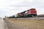 FXE 4045 & CP 9642 sit with loaded ethanol train 632