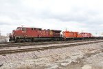 CP 8648 leads 241 into Bensenville with two retired GP9's in tow