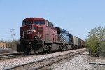 CP 9670 & CEFX 1020 slowly roll west up the lead with 241