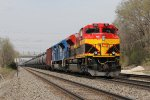 KCS 4164 & CEFX 105 wait to continue east with oil loads