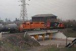 EJE 673 & CN 6008 work the hump job at Kirk Yard