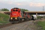 Passing under I-55, CN 2035 leads M336 south on the J