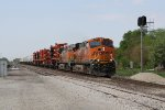 BNSF 7804 & 4927 come flying eastward with a short, high priority train