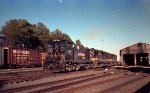 NS 2351 switches a pair of GP50's at Glenwood Yard