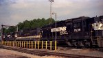 NS 2598, Southern 2551 and NS 2791 sit at the fuel racks at Glenwood Yard