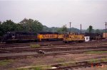 CSX 2523 leads a trio of other units on a yard job