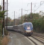 Southbound Amtrak on Northeast Corridor
