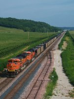 BNSF 9133 westbound BNSF empty coal train