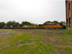 BNSF 7262, UP 5556, and NS 2695