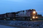 BNSF 650 Heads the 836 local Sb out of Old Monroe Mo.
