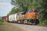BNSF 4998 heads the GALMEM into Old Monroe Mo.