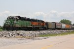 BNSF 2749 Works the 836 local up the Hannibal Sub,