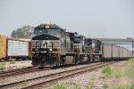 NS 9595 Heads up a SB coal load down Main 2.