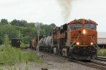 BNSF 6763 Rolls a Sb GALMEM out of Old Monroe Mo.