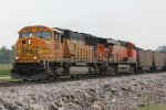 BNSF 8800 Class leader heads up a SB coal load.