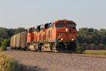 BNSF 6064 Brings a coal load Sb onto the K line at Falk..