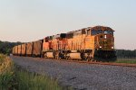 BNSF 9875 Heads a coal load into the day's last rays.