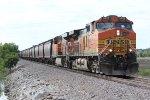 BNSF 5482 Leads a worm train Sb down the K Line.