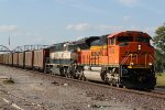 BNSF 9004 Drags a UCEX load into Louisiana Mo.