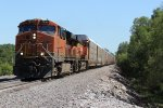 BNSF 7240 Leads a once common now Rare auto rack NB.