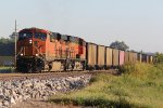 BNSF 6263 Leads a loaded UCEX Sb down the K line..