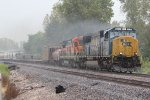 CSX 4570 Heads a TULGAL into Pouring rain..