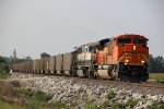 BNSF 9007 Leads PPEX coal load out of Old Monroe Mo.
