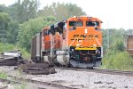 BNSF 920 Sits tied down on a empty grain train.