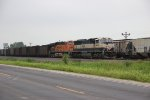 BNSF 9684 Heads a coal load through Elsberry Mo.
