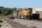 BNSF 9942 Heads a coal load Sb into Old Monroe Mo.