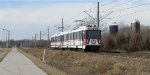 St. Louis MetroLink - Light Rail Passes a Farm (2)
