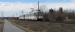 St. Louis MetroLink - Light Rail Passes a Farm (3)