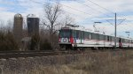 St. Louis MetroLink - Light Rail Passes a Farm (5)