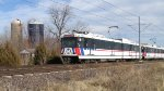 St. Louis MetroLink - Light Rail Passes a Farm (6)