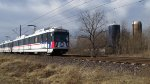 St. Louis MetroLink - Light Rail Passes a Farm (4)
