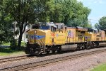 UP 7460 rolls east bound at Rochelle