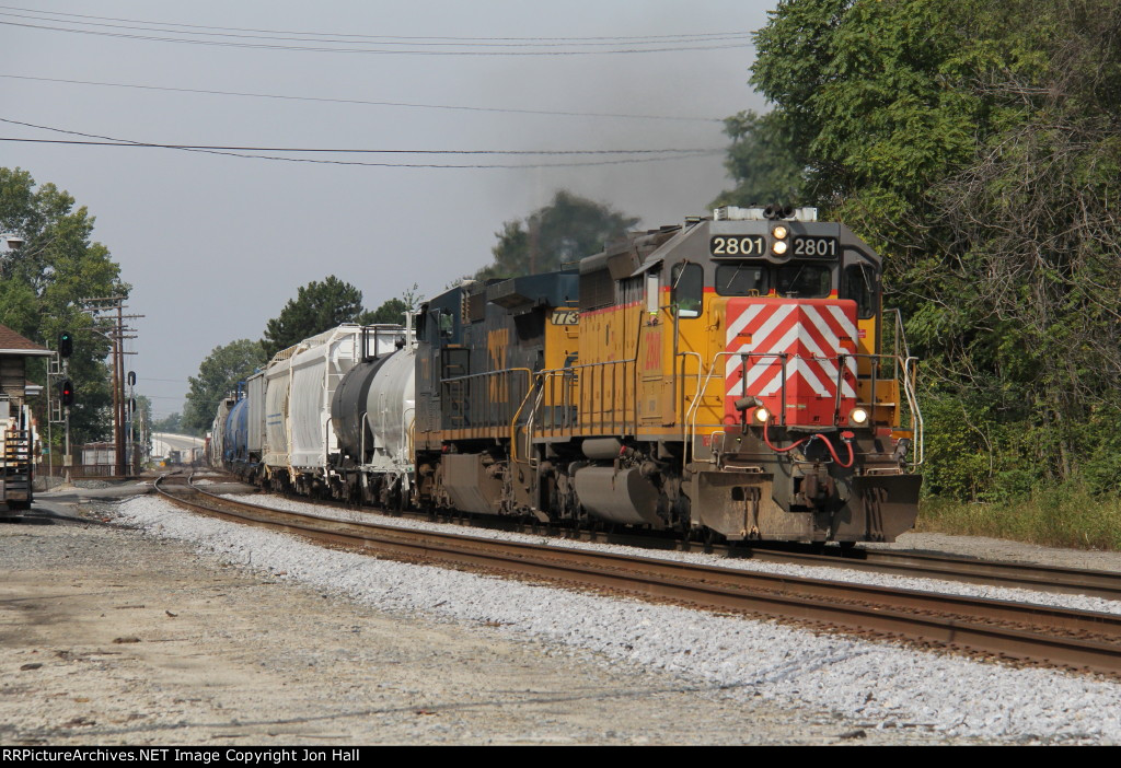 OFOX 2801 leads the charge east through town with Q342