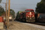CP 9632 & 8866 roll east through Fostoria at track speed with Q166