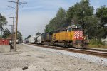 OFOX 2801 & CSX 7730 roll east on Track 1 with Q342