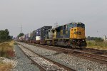 SD80MAC 4592 leads the way as Q016 heads away from Fostoria