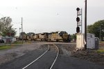 Ethanol train K652 rolls east with a veteran SD40-2 leading the newer engines