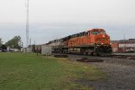 BNSF 6168 & 9543 work hard to keep N820 rolling east at full speed