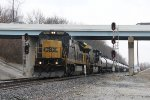W943 rolls south under National Rd as it passes Middle Vandalia and milepost 68 on the Toledo Sub
