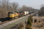 Ethanol loads head south as K425 with UP 8370 & CN 2538 for power