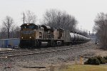 Empty ethanol train 65T heads west away from CP412